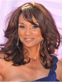 """Shoulder Length 14"""" Curly With Bangs Lace Front Beverly Johnson Wigs"""