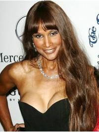 "Long 26"" Straight With Bangs Lace Front Beverly Johnson Wigs"