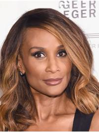 """Shoulder Length 14"""" Wavy Without Bangs Full Lace Beverly Johnson Wigs"""