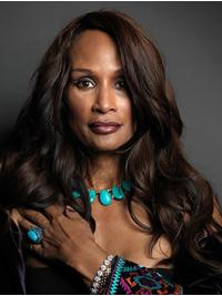 """Long 22"""" Wavy Without Bangs Lace Front Beverly Johnson Wigs"""