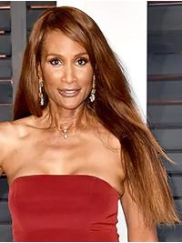"Long 26"" Straight Without Bangs Full Lace Beverly Johnson Wigs"