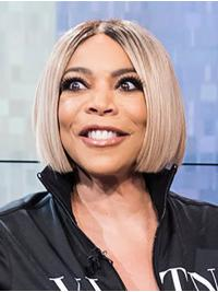 Lace Front Chin Length Grey Straight Bobs Wendy Williams Wigs