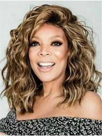 Capless Shoulder Length Blonde Curly Bobs Wendy Williams Wigs