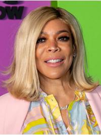 Full Lace Shoulder Length Grey Straight Without Bangs Wendy Williams Wigs