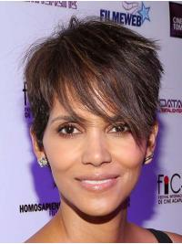 Straight Brown Lace Front Short Boycuts Halle Berry Wigs