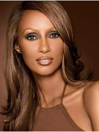 Straight Brown Lace Front Long Without Bangs Iman Wigs