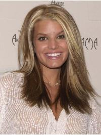 "Layered Straight 16"" Lace Front Jessica Simpson Wigs"