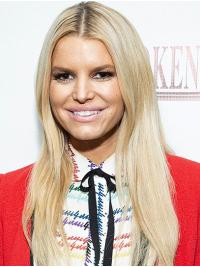 """Without Bangs Wavy 20"""" Lace Front Jessica Simpson Wigs"""