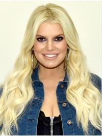 """Without Bangs Wavy 22"""" Lace Front Jessica Simpson Wigs"""