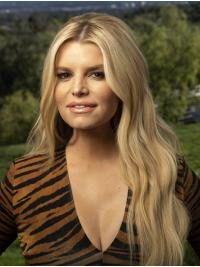"""Without Bangs Wavy 26"""" Lace Front Jessica Simpson Wigs"""