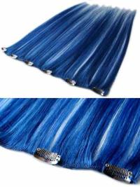 Remy Human Hair Straight Black Faddish Clip in Hair Extensions