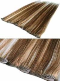 Remy Human Hair Straight Shining Clip in Hair Extensions