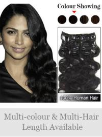Best clip in hair extensionsclip in human hair extensions remy human hair wavy black best clip in hair extensions pmusecretfo Gallery
