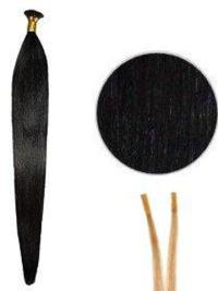 Cheap Black Synthetic Stick-I Tip Hair Extensions