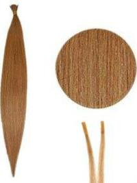 Preferential Auburn Synthetic Stick-I Tip Hair Extensions