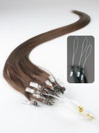 Remy Human Hair Brown Designed Micro Loop Ring Hair Extensions
