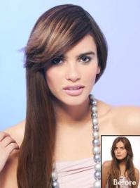 Synthetic Brown Cosy Clip in Hair Extensions