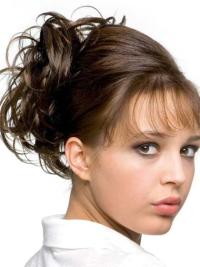 Remy Human Hair Brown Discount Wraps / Buns Hairpieces