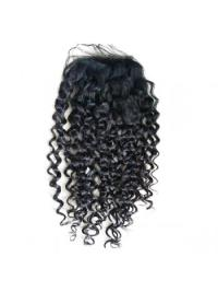Easeful Black Curly Long Lace Closures