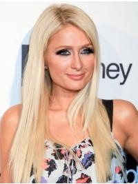 Cool Blonde Straight Long Paris Hilton Wigs