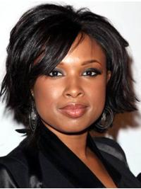 Nice Black Lace Front Chin Length Jennifer Hudson Wigs