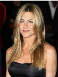 Stylish Blonde Straight Long Jennifer Aniston Wigs