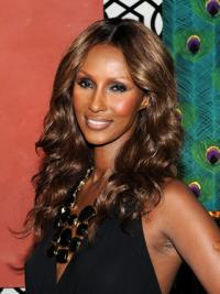 Iman Smooth Premier Fabulous Medium Curly Lace Front Synthetic Hair