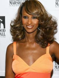Iman Shoulder Length Wavy Style Wigs