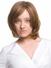 Affordable Remy Human Hair Monofilament Wavy Medium Wigs