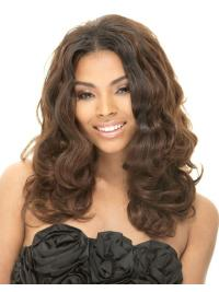 Style Brown Wavy Long African American Wigs