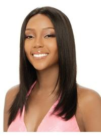 No-fuss Brown Straight Long African American Wigs