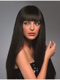 Gentle Brown Wavy Long Synthetic Wigs