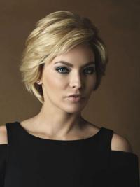 Amazing Blonde Wavy Short Full Lace Wigs