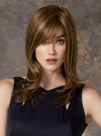 Cool Blonde Monofilament Synthetic Long Wigs