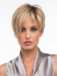 Synthetic Blonde Monofilament Graceful Short Wigs