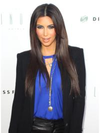 Unique Brown Straight Long Kim Kardashian Wigs