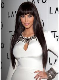 Beautiful Lace Front Straight Long Kim Kardashian Wigs