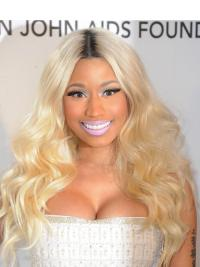 Gentle Blonde Wavy Long Nicki Minaj Wigs