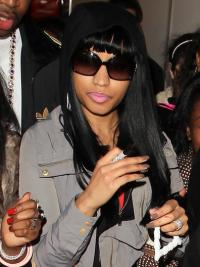 Modern Black Straight Long Nicki Minaj Wigs