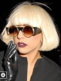 High Quality Blonde Straight Chin Length Lady Gaga Wigs