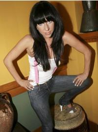 Gorgeous Black Straight Long Lady Gaga Wigs