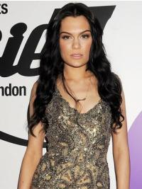 No-fuss Black Wavy Long Jessie J Wigs