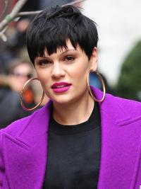 Fashion Black Straight Cropped Jessie J Wigs