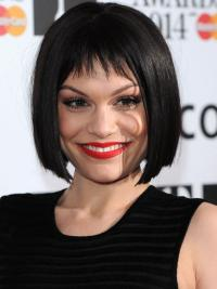 Durable Black Lace Front Chin Length Jessie J Wigs