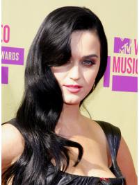 Graceful Black Wavy Long Katy Perry Wigs