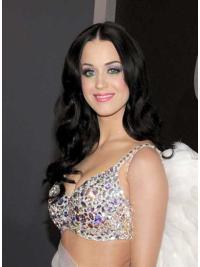 Refined Black Wavy Long Katy Perry Wigs