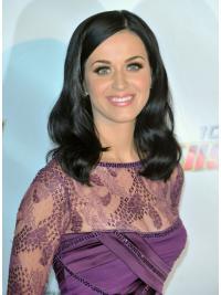 Gentle Black Wavy Shoulder Length Katy Perry Wigs