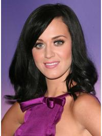 Popular Black Wavy Shoulder Length Katy Perry Wigs