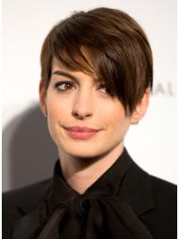 Hairstyles Lace Front Straight Cropped Anne Hathaway Wigs