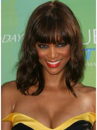 High Quality Auburn Wavy Shoulder Length Tyra Banks Wigs